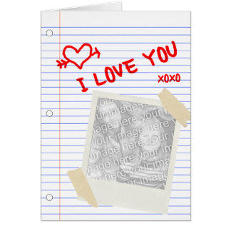 i love you paper card