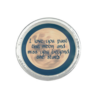 I love you past the moon... ring