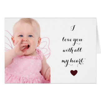 I love you Personalized Photo Greeting Card