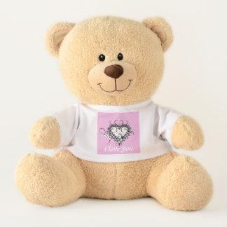 i love you -pink heart teddy bear