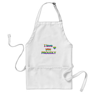 I love you proudly standard apron