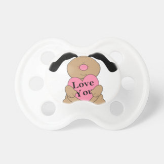 I  Love You Puppy Pacifier