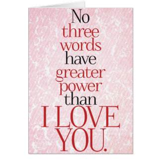 I LOVE YOU Quote Love Romance Card
