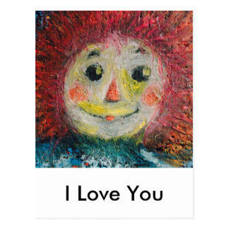 I love you, Rag Doll. Postcard