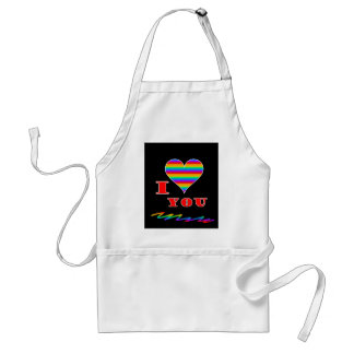 I love you rainbow design standard apron