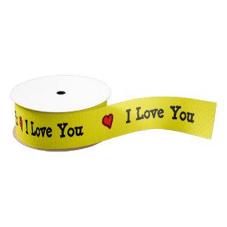 I Love You Ribbon Grosgrain Ribbon