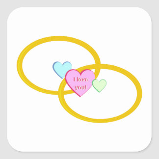 I Love You Rings Stickers