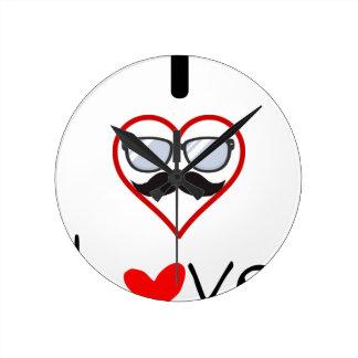 I Love You Round Clock