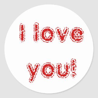I love you! round sticker