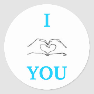 I LOVE YOU. ROUND STICKER