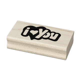 I Love You Rubber Art Stamp