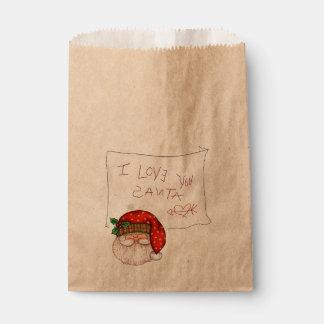 I Love You Santa Favor Bag