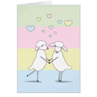 I Love You>Sheep> Humor>A Woolly Great Love Card