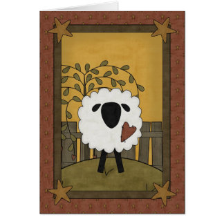 I Love You Sheep Scene Card