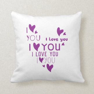 I Love You - Show your love. Throw Pillow