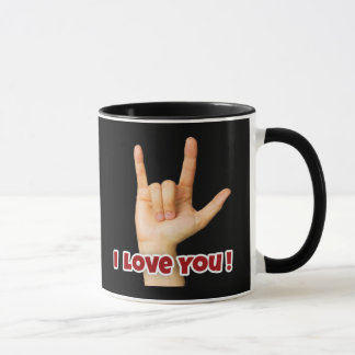 """I Love You"" Sign Language Coffee Mug"