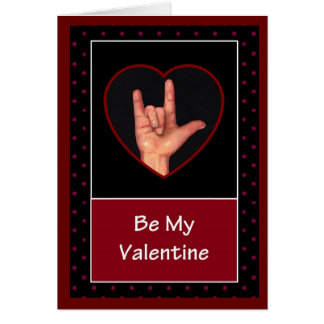 I LOVE YOU: SIGN LANGUAGE VALENTINE CARD