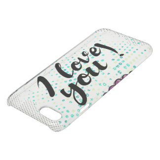 I love you sign with cute  and rustic iPhone 8/7 case