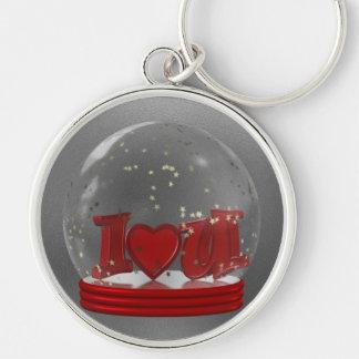 I Love You Snow Globe Key Chains