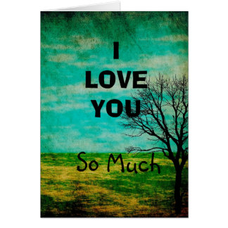 I Love You, So Much Mystical Tree Simple Card