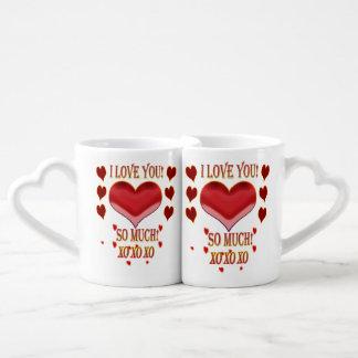 I love you so much xoxo I love you so much xoxo Coffee Mug Set