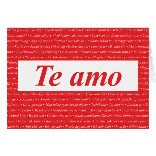 I Love You (Spanish) Customizable Card