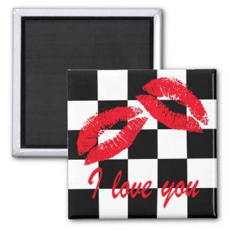 I love you square magnet