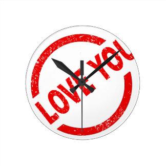 I Love You Stamp Wallclocks