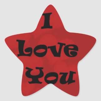 I love you  . . star stickers