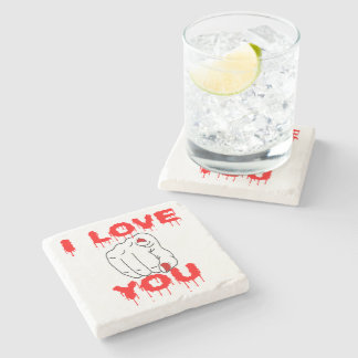 I Love You Stone Coaster