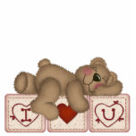 I Love You Teddy Bear - Sculpture Cut Outs