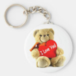 I love you, teddy love, by healing love key chains