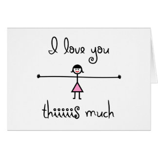 I love you this much card