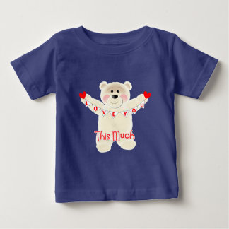 I Love You This Much Cute Teddy Bear Personalized Baby T-Shirt