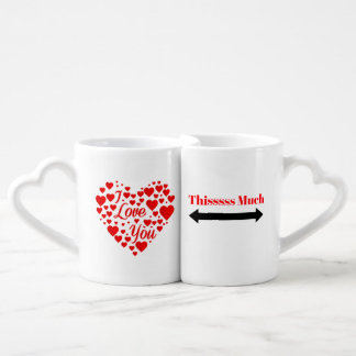 I Love you This Much Twin Coffee Mugs Cups