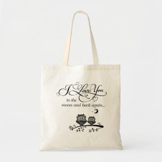 I love you to moon & back again... tote bag