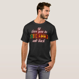 I Love You To Sri Lanka And Back Country Tshirt