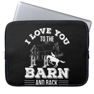 I Love You To The Barn Back Horse Riding Laptop Sleeve