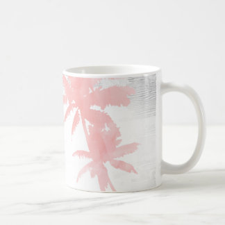 I love you to the beach & back palm tree wood coffee mug