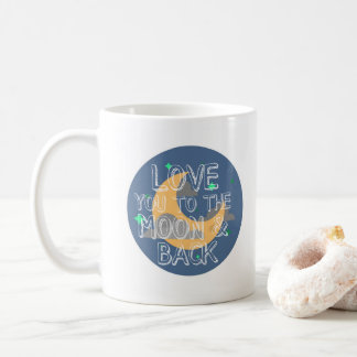 I Love You to the Moon and Back Blue Mug