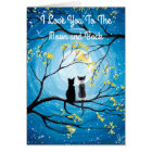 I Love You To The Moon and Back Cat Card
