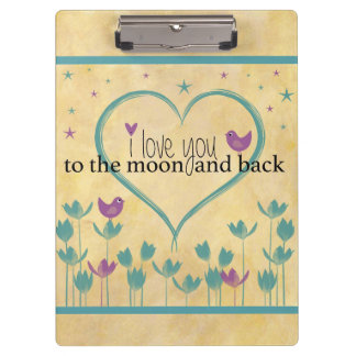 I Love You to the Moon and Back Clipboard