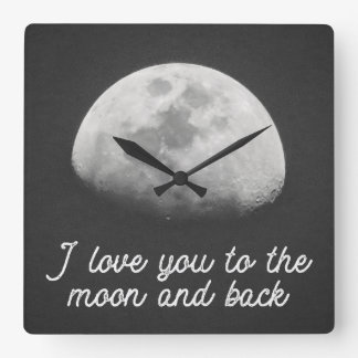 I love you to the moon and back clock