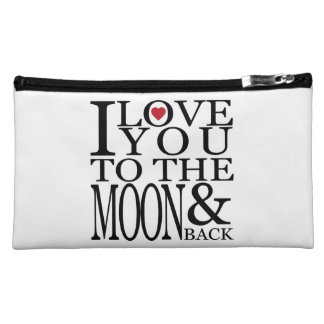 I love you to the moon and back cosmetic bag