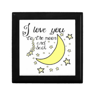 I love you to the moon and back gift box