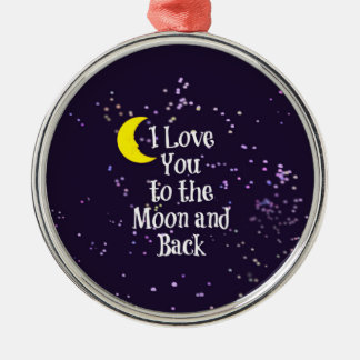 I Love You to the Moon and Back - Man in the Moon Metal Ornament