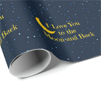 I Love You to the Moon and Back, Man in the Moon Wrapping Paper