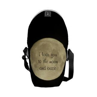 I love you to the moon and back mini messanger bag messenger bag