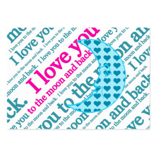 I Love You to the Moon and Back Mothers Day Gifts Business Cards