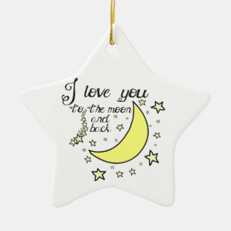 I love you to the moon and back christmas ornament